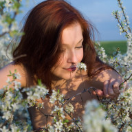 mulher flores