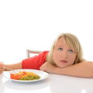 Woman sad diet