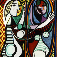 Picasso-woman-mirror